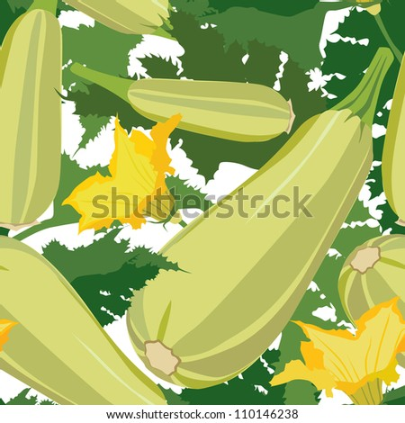 zucchini  background seamless pattern with vegetable marrow food wallpaper