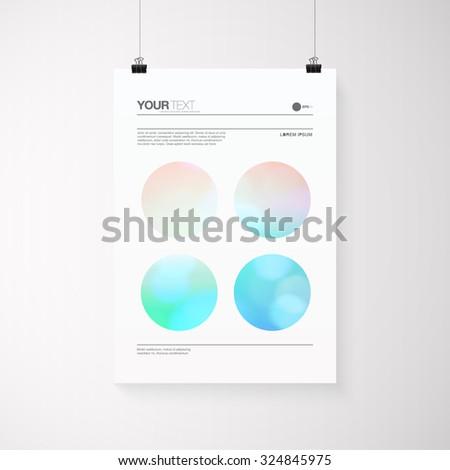 a4   a3 format poster design