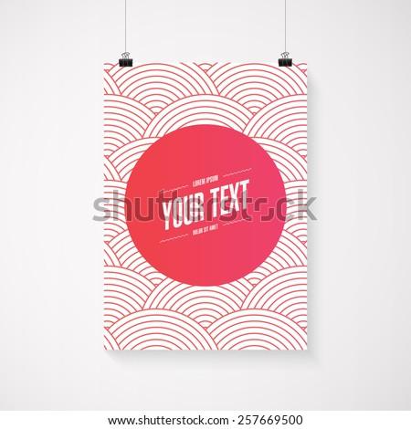 a4   a3 format poster minimal