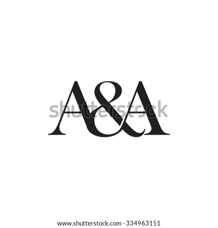 a a initial logo ampersand
