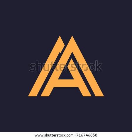 a  aa  am letters logo monogram