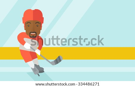 a african american ice hockey
