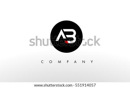 a b logo ab letter design