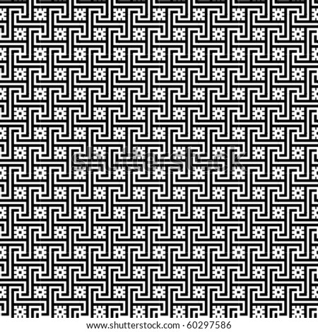 A B/W vector pattern made with swastika.