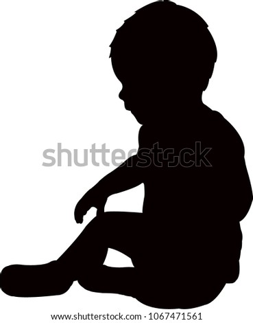 a baby body silhouette vector