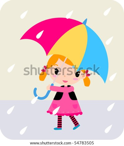 a baby girl with red umbrella