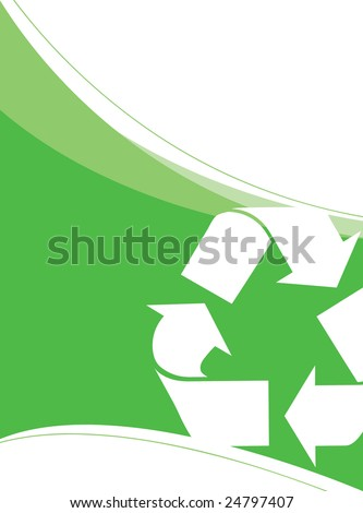 A background layout themed around recycling and environmentalism. Great for going green!