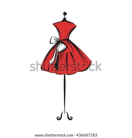 a ball gown short mannequin
