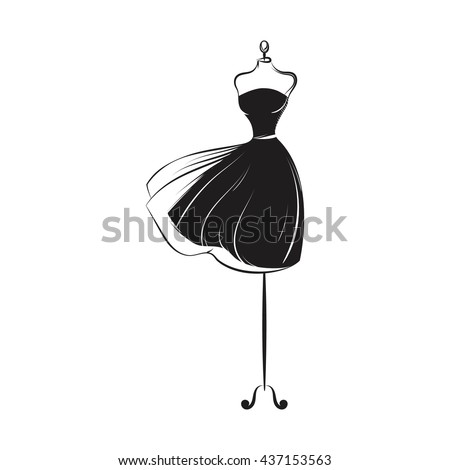 a ball gown short mannequin