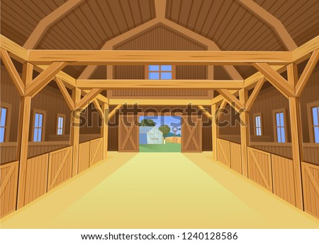 a barn for farm animals  view