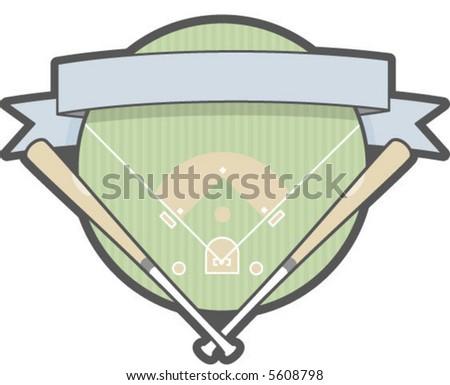 A baseball patch logo - stock vector
