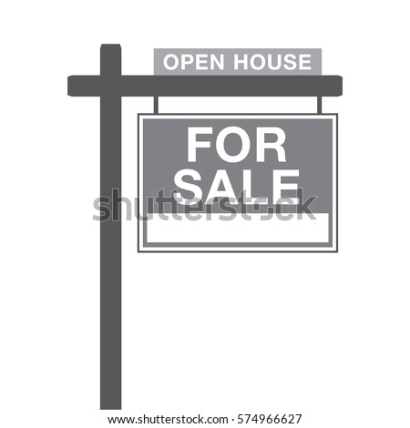 a basic for sale sign in vector