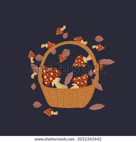 a basket with toxic natural
