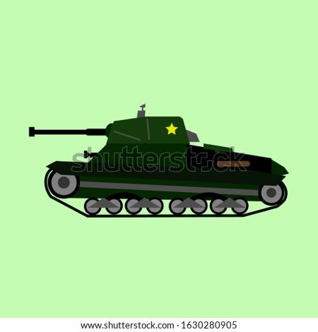a battle tank for war  suitable