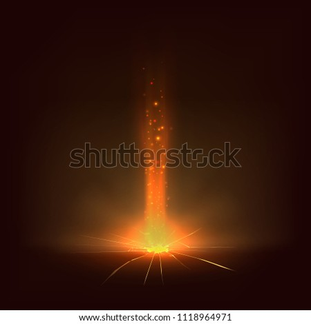 a beam of light from a crack in