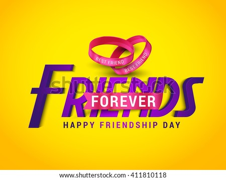 A beautiful  card with stylish text for friendship day.