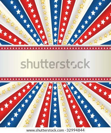 a beautiful design for the independence day of USA, with stars and strips