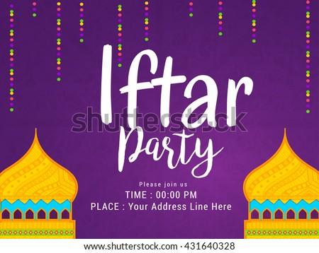 Iftar party invitation card beautiful design download free vector a beautiful invitation card for iftar partyramadan mubarakiftar party celebration background stopboris Gallery