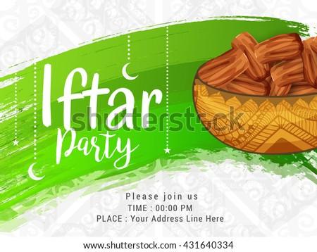 Iftar party invitation card beautiful design download free vector a beautiful invitation card for iftar partyramadan mubarakiftar party celebration background stopboris Choice Image
