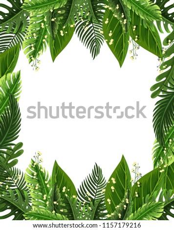A beautiful leaves border illustration #1157179216