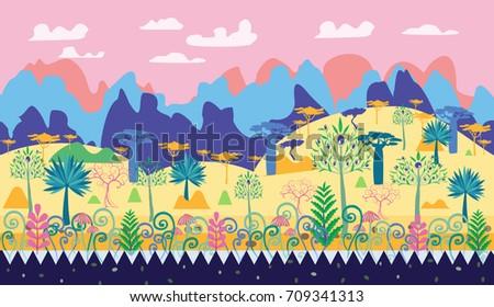 a beautiful magic forest scene