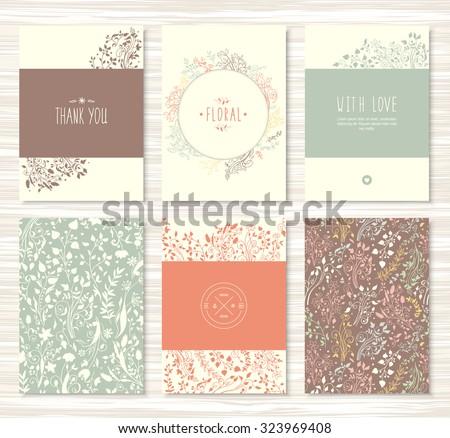 a beautiful set of flyers