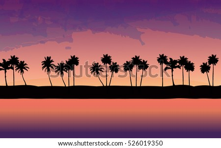 a beautiful  sunset landscape