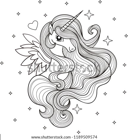 a beautiful unicorn black and