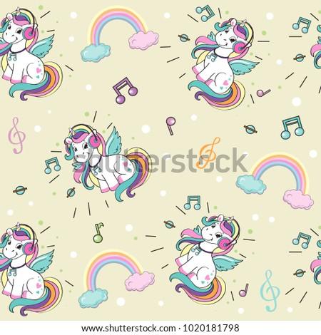 a beautiful unicorn with
