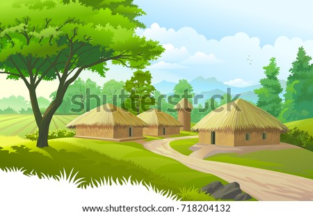 a beautiful village with