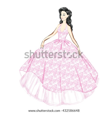 a beautiful woman in a lacy
