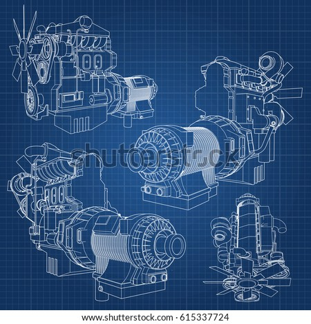 a big diesel engine with the