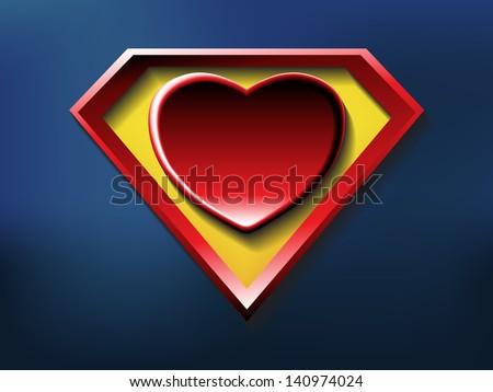 a big red heart shaped like a