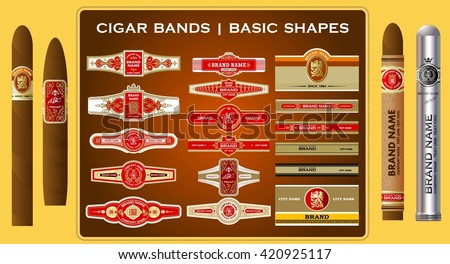 A big set of high quality vintage cigar bands
