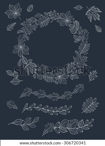 a big set of images of leaves