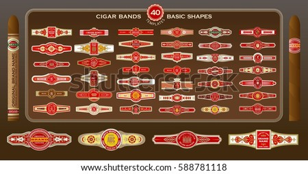 photograph about Free Printable Cigar Labels known as Cigar And The Labels Template - Obtain Absolutely free Vectors