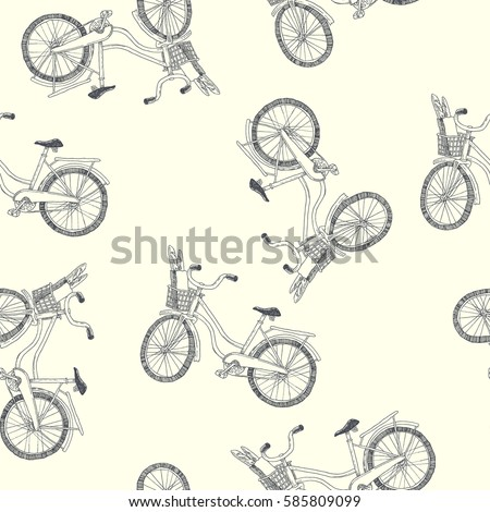 a bike with basket. vector...