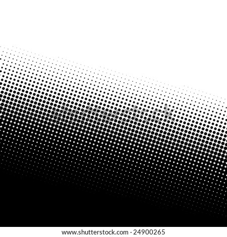 A black and white halftone background with plenty of copy space.