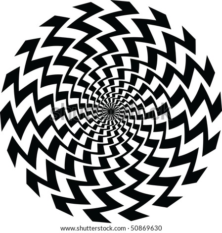 a black and white spiral