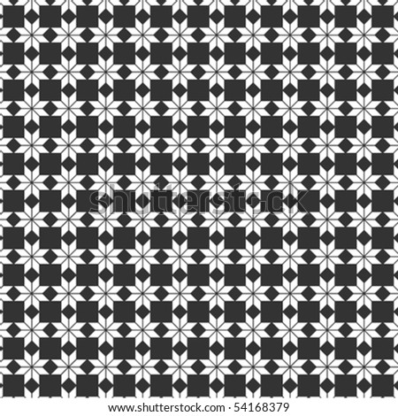 A black and white, vector pattern