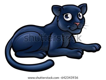a black panther animal cartoon
