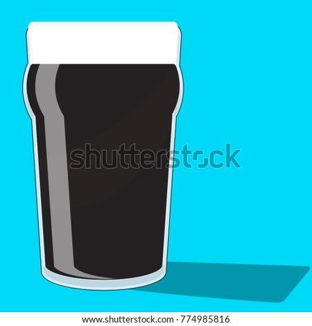 a black pint of stout