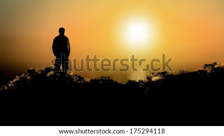 a black silhouette of a man