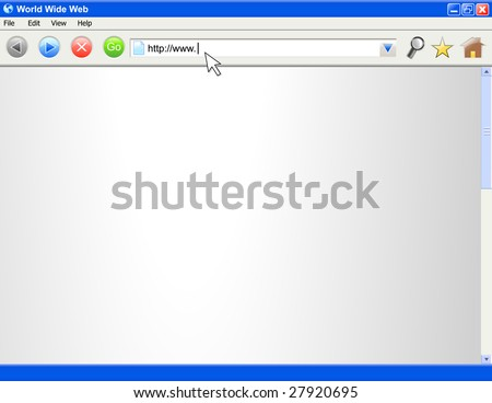 A blank computer internet browser screen.