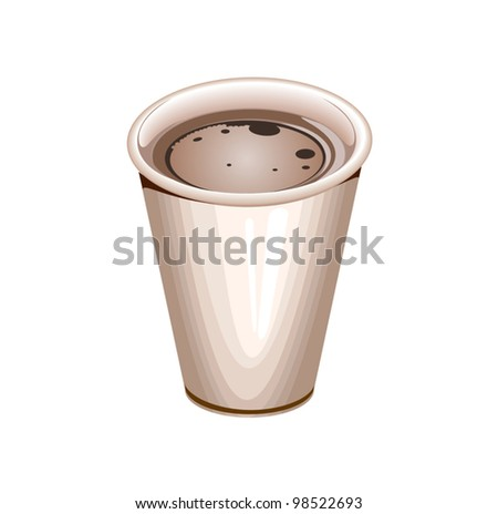 a blank white paper coffee cup filled with coffee