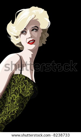 a blonde marilyn monroe look