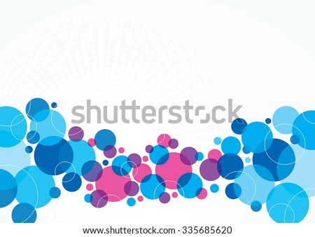 A blue and purple abstract background design with circles