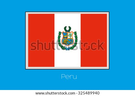 a blue background with the flag