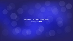 a blue blurred abstract gradient background with bokeh lights effect