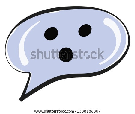 A blue-colored round shape balloon with three dots and upright and inverted white commas usually found next to the head of a character in a cartoon  vector  color drawing or illustration